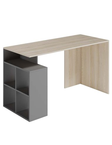 Стол письменный Меблева Площа СП3 антрацит и дуб ясень коимбра