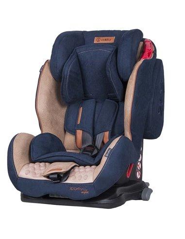 Автокресло детское Coletto Sportivo Isofix синее, 9-36 кг