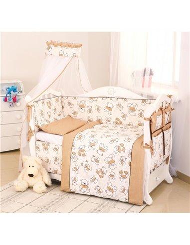 Детский постельный комплект Twins Dolce 8 элементов D-004 Bears