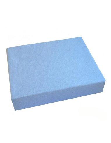 Простынь Twins на резинке голубая