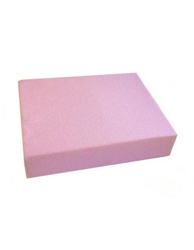 Простынь Twins на резинке розовая