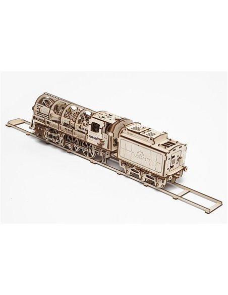 Конструктор механический 3D Ukr-Gears Паровоз с тендером