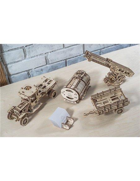Конструктор механический 3D Ukr-Gears Набор дополнений к модели Грузовик UGM-11