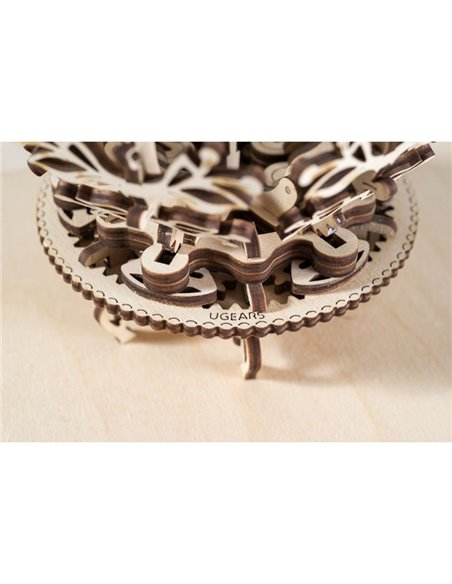 Конструктор механічний 3D Ukr-Gears Механічна квітка-скринька