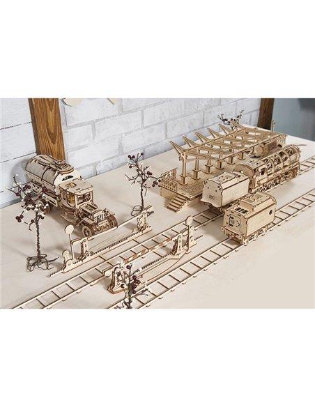 Конструктор механический 3D Ukr-Gears Рельсы с переездом