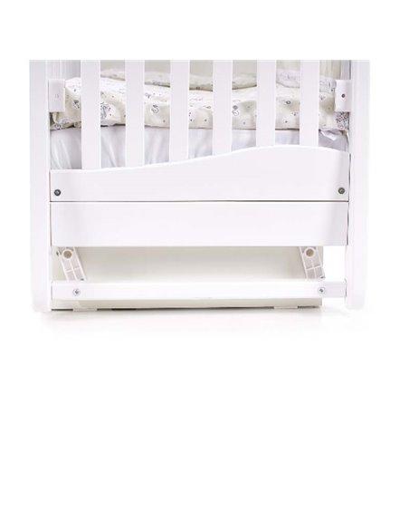 Кроватка Верес ЛД18 с шухлядой и маятником 18.06 белый