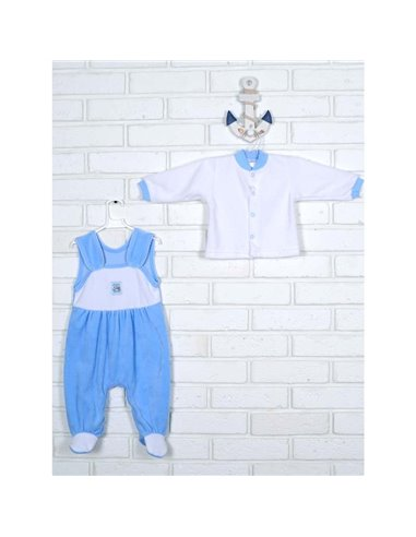 Комплект Татошка 08383 білий/блакитний