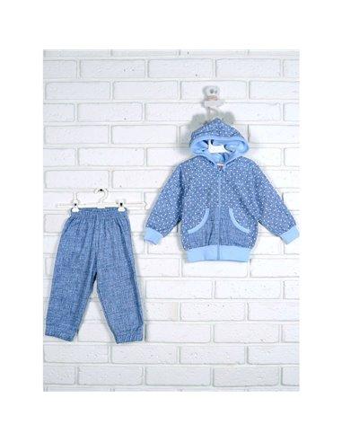 Комплект Татошка 08605 голубой джинс/принт звездочка