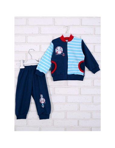 Комплект Татошка 08677 синий/бирюзовый полоска/красный