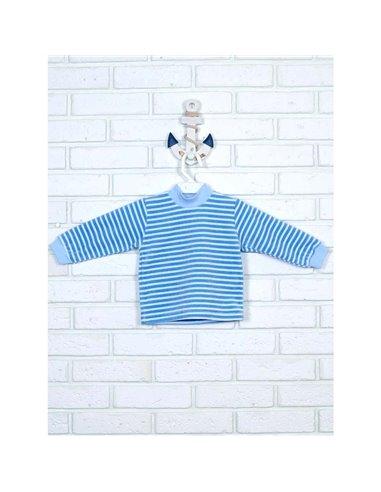 Гольф Татошка 02302 голубой-белый полоска