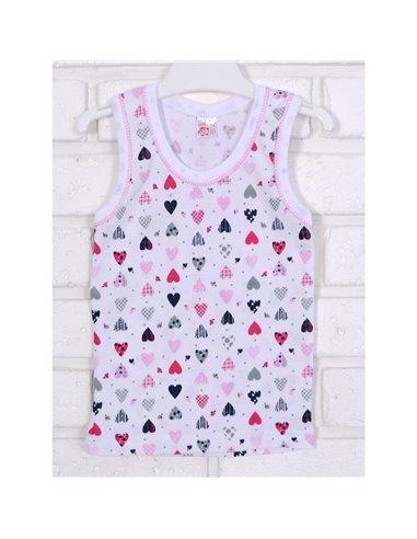 Майка Татошка 25628 белый-розовый-принт сердечки