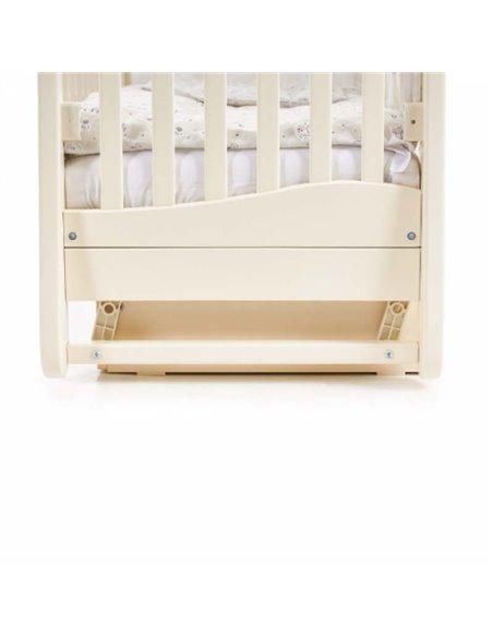 Кроватка Верес ЛД18 с шухлядой и маятником 18.04 слоновая кость