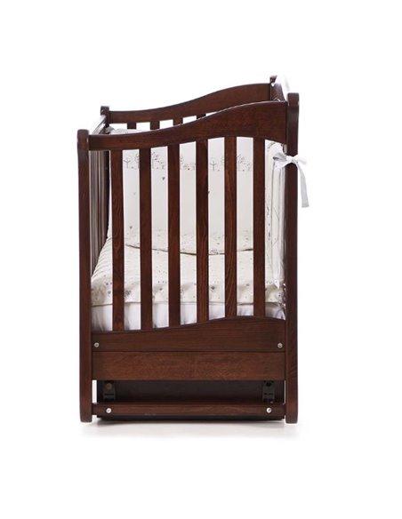 Кроватка Верес ЛД18 с шухлядой и маятником 18.03 орех