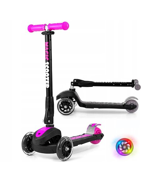 Самокат трехколесный Milly Mally Scooter Magic Pink