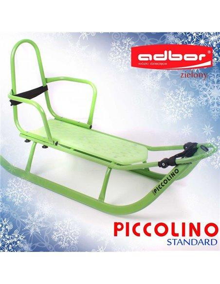Санки Adbor Piccolino cо спинкой зеленые