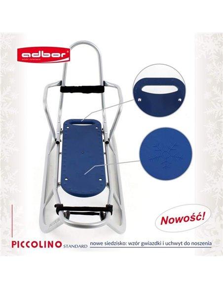 Санки Adbor Piccolino зі спинкою сині