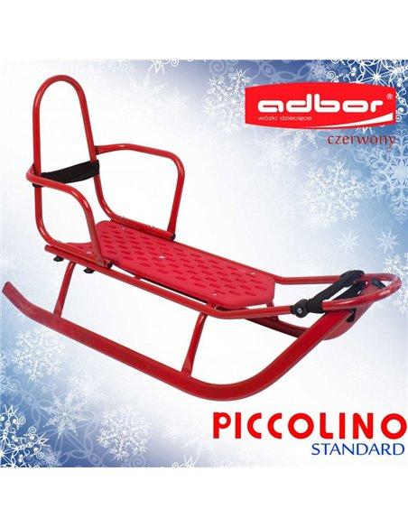 Санки Adbor Piccolino со спинкой красные