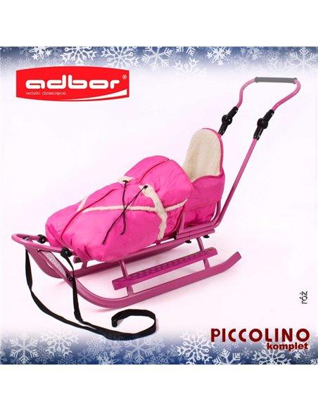 Санки Adbor Piccolino Комплект розовые