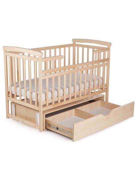Кроватка Детский Сон с маятником и ящиком цвет натуральный
