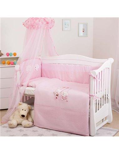 Детский постельный комплект Twins Evolution 8 элементов A-004 Котик и собачка