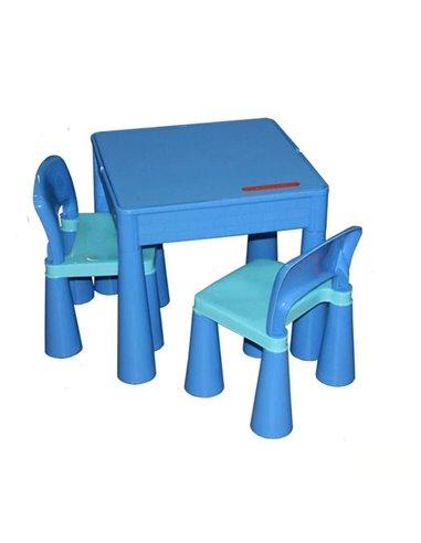 Детский столик и стульчики Tega Mamut голубой