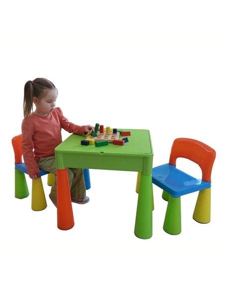 Дитячий столик і стільчики Tega Mamut мультиколор