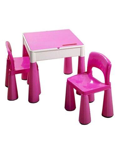 Детский столик и стульчики Tega Mamut розовый