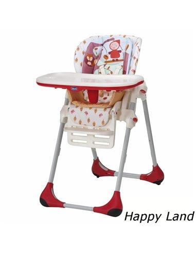 Стульчик для кормления Chicco Polly 2 в 1 Happy Land 79065.26