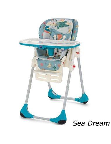 Стульчик для кормления Chicco Polly 2 в 1 Sea Dream 79065.80