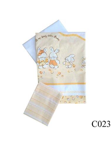 Дитяча змінна постіль Twins Comfort C-023 Зайчики на смужках