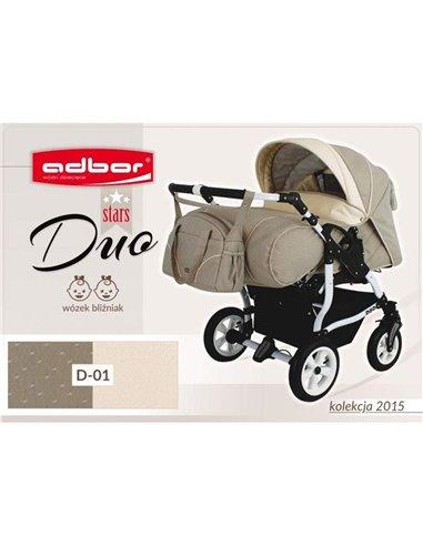 Детская коляска для двойни Adbor Duo Stars 01