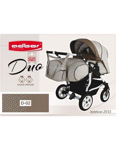 Детская коляска для двойни Adbor Duo Stars 02