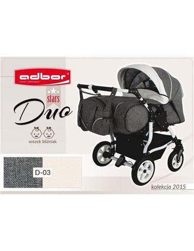 Детская коляска для двойни Adbor Duo Stars 03