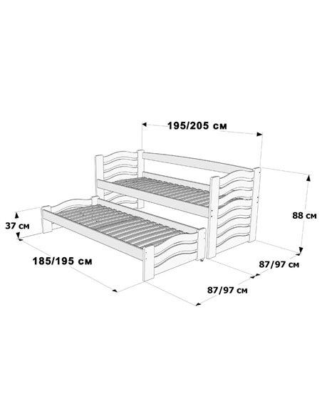 Подростковая кровать с дополнительным спальным местом Дримка Мальва
