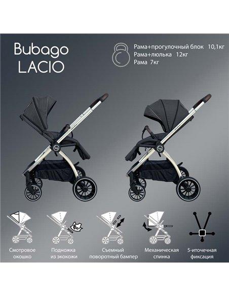 Дитяча коляска 3 в 1 BubaGo Lacio wine red, чорна рама