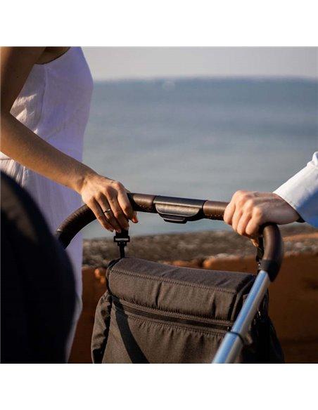 Дитяча коляска 3 в 1 BubaGo Lacio black, мідна рама