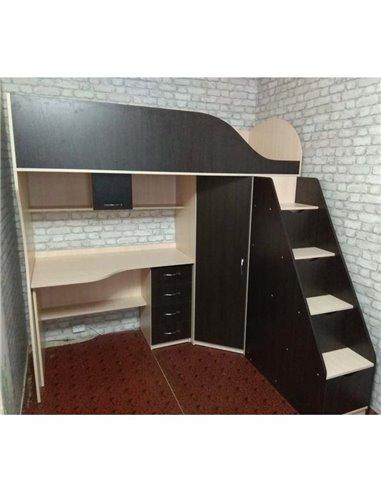 Кровать-чердак с рабочей зоной Мерабель КЛ4-12