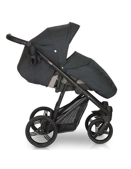 Детская коляска 3 в 1 Verdi Dynamic VD-03 чёрно-зеленая