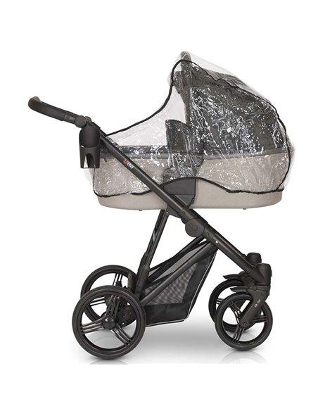 Детская коляска 3 в 1 Verdi Dynamic VD-09L черная с синим экокожа
