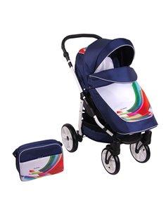 Детская универсальная коляска 2 в 1 4Baby Atomic Duo Blue