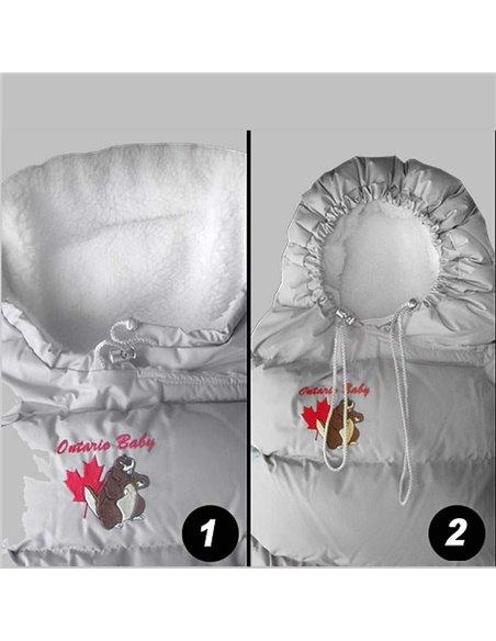 Пуховый конверт Ontario Inflated Red с меховой подкладкой