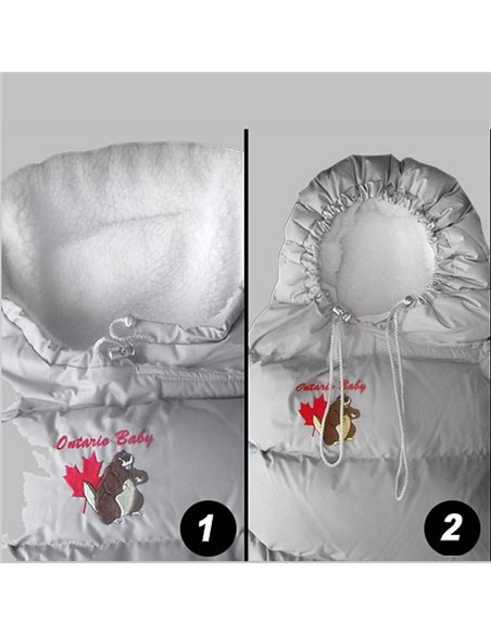 Пуховий конверт Ontario Inflated-A White 094 з підкладкою з фанелі