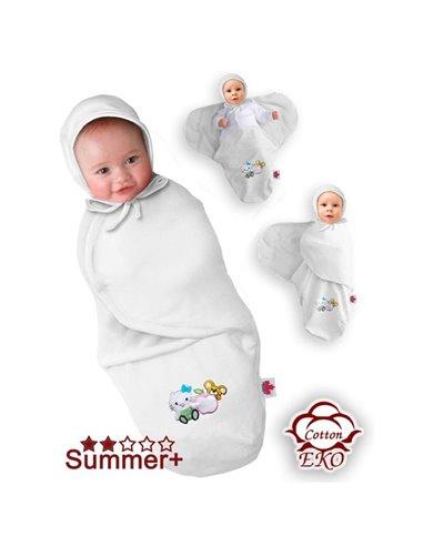 Пеленка-кокон трикотажная на липучке Ontario Deep Sleep 3 Summer+, от 6 до 9 месяцев