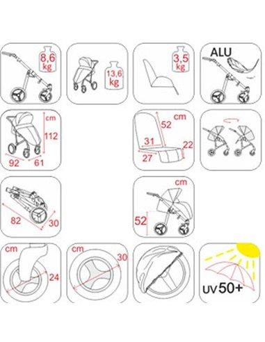 Детская коляска 2 в 1 Jedo Trim 76