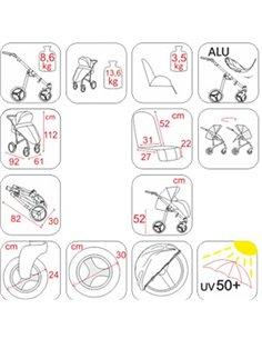 Детская коляска 2 в 1 Jedo Trim 83