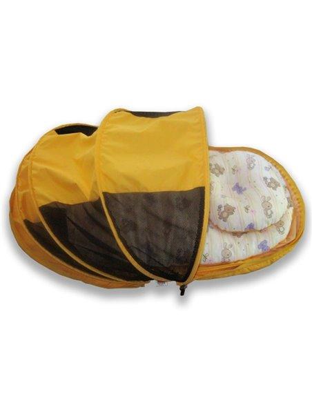 Складная сумка-кровать с матрасом и подушкой Ontario Picnic Baby Синяя