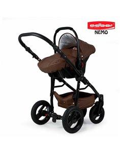 Детская коляска 3 в 1 EasyGo Virage Ecco 2019 Grey Fox