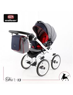 Дитяча коляска 2 в 1 MiooBaby ZOOM Black Edition Red