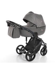 Дитяча прогулянкова коляска BeneBaby D200 синя на чорній рамі