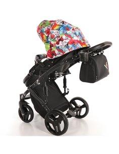 Детская коляска 2 в 1 Broco Monaco pink